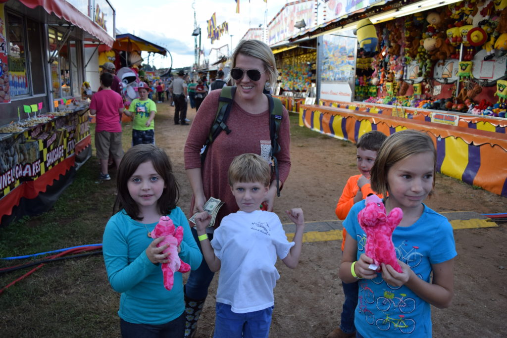 a family at the fair