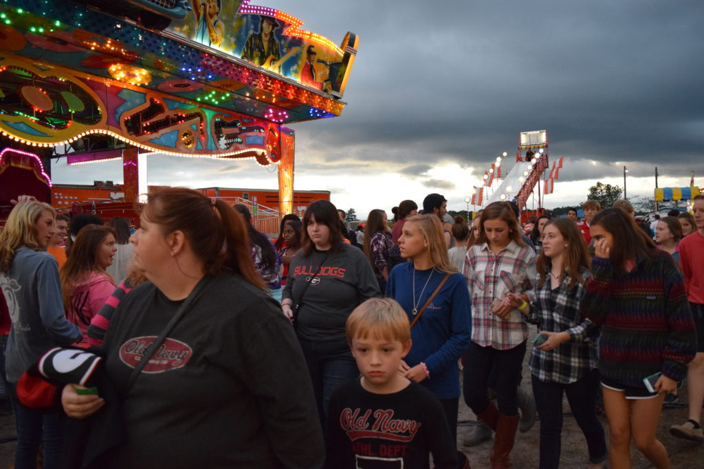 crowd at fair